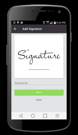 delivery signature verification